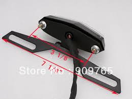 motorcycle license plate frame with led brake light free shipping 1 pcs motorcycle led tail light and license plate