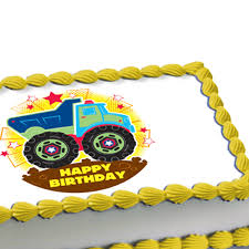 edible cake images construction truck edible image cake decoration