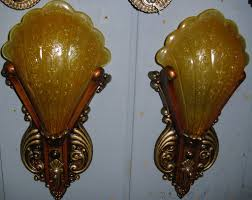 Art Deco Wall Sconces Art Deco Slip Shade Wall Sconce Lights Riddle From