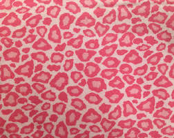 Pink Cheetah Print Curtains Pink Leopard Fabric Etsy