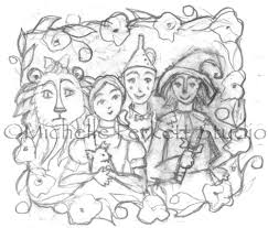 enchanted inspirations wizard of oz sketch