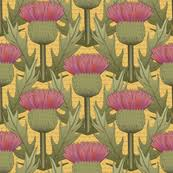 scotch thistle fabric wallpaper gift wrap spoonflower