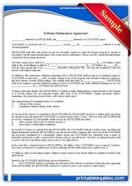 licensing agreement template free free printable software maintenance agreement legal forms free