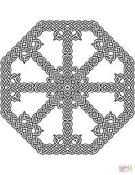 celtic knot pattern coloring page free printable coloring pages