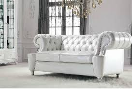Chesterfield White Leather Sofa White Leather Chesterfield Sofa Pls516w Luxury Perl White