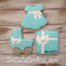 tiffany blue baby shower so cute cookies