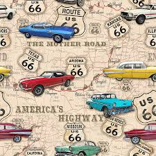 Map Route 66 by Route 66 Muscle Car Map Jp3961 Digital Art By Jean Plout