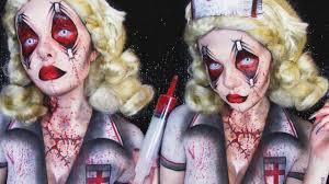 zombie nurse halloween makeup u0026 body painting tutorial ash