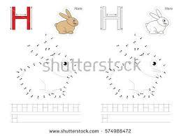 vector alphabet exercise kid educational game stock vector