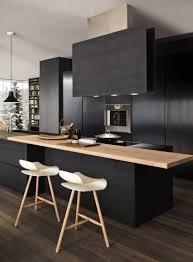 cuisine noir bois cuisine noir bois best best cuisine noir et blanc et bois gallery