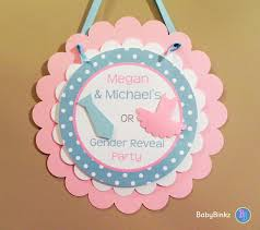 gender reveal party decorations door sign gender reveal party ties or tutus party decorations