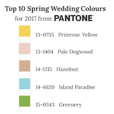 spring 2017 pantone top 10 spring wedding colours for 2017 from pantone part i chic