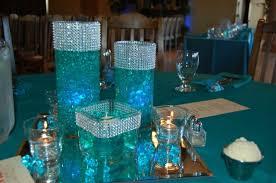 blue centerpieces decorative glass centerpieces