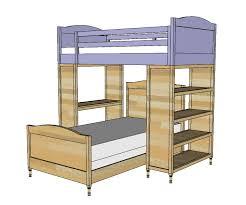 Bunk Bed Plans Free Impressive Bunk Bed Designs Free White Chelsea Top Diy