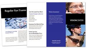 office brochure templates tri fold brochure template for optometry office eyecare vision