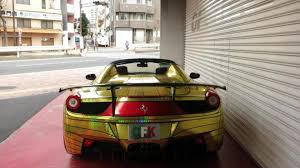 golden ferrari ferrari 458 spider golden shark by office k redefines tackiness