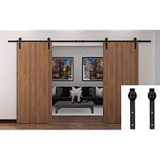 Sliding Door Wood Double Hardware by Sliding Barn Doors Amazon Com