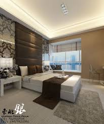 contemporary master bedroom using floating bed and headboard