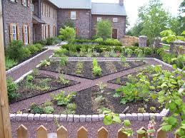 cobblestone patio ideas landscape farmhouse with perennial garden