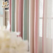 Pink Striped Curtains Korean And Modern Pink Striped High Grade Chenille