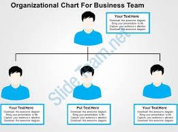 organizational chart for business team flat powerpoint design