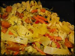 cuisiner coco plat wok de légumes et poulet et sauce curry une tite débutante dans