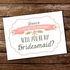bridesmaid invitation printable wedding invitations and decorations for your special day