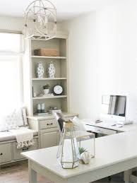 White L Shaped Office Desk by Cozy Office Design With L Shaped Desk And Window Seat Bria