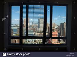 view of lower manhattan from a penthouse in battery park city in