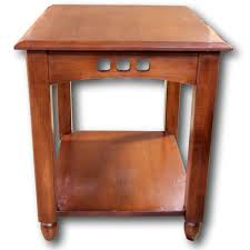 ethan allen mission style end table upscale consignment