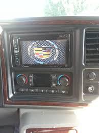 cadillac escalade radio 2006 cadillac escalade with 2 din pioneer radio with custom