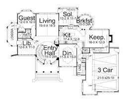 Floor Plan Castle Kildare Castle 5997 5 Bedrooms And 4 5 Baths The House Designers