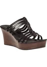 ugg platform sandals sale lyst ugg mattie wedge sandal black leather in black
