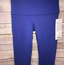 lululemon sapphire blue nwt wunder under pant hi rise 4 leggings