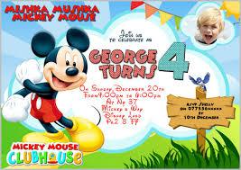 mickey mouse birthday invitations ideas best invitations card ideas