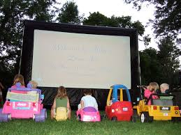 backyard movie projector rental home outdoor decoration
