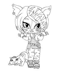 monster coloring pages posts related baby toralei stripe