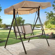 Swing Chairs For Patio Outsunny Metal Swing Chair Glider Rocking Chair Seat Glider