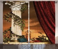 Antique Satin Valances by Antique Decor Curtains Greek Style View Window Drapes 2 Panel Set
