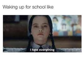 I Hate School Meme - waking up for school funny pictures quotes memes funny images