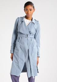 light blue trench coat khujo narissa trenchcoat light blue grey zalando co uk