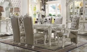 versailles dining table white by acme 61140
