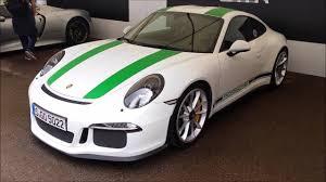 white porsche 2016 porsche 911 r green on white quick walkaround and flyby