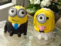 photo cake toppers uk for wedding party minions wedding dispicable