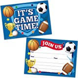 amazon com party supplies all sports party invitations 10 ct