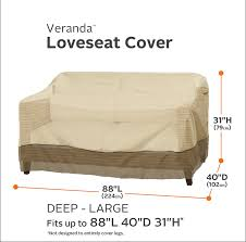 Loveseat Slipcover Amazon Com Classic Accessories 55 414 041501 00 Veranda Patio