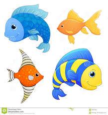 sea fishes set vector fish cartoon cute character cartoon fish