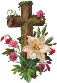 scrap cross with flowers truths and flowers