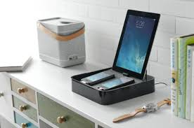 charging shelf station bluelounge sanctuary4 desk charging station coolpile com