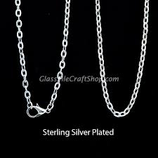 plated necklace chains images 18 inch rolo chain necklace silver plated glass tile craft shop jpg